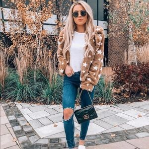 NWOT Lush Star Faux Fur Jacket